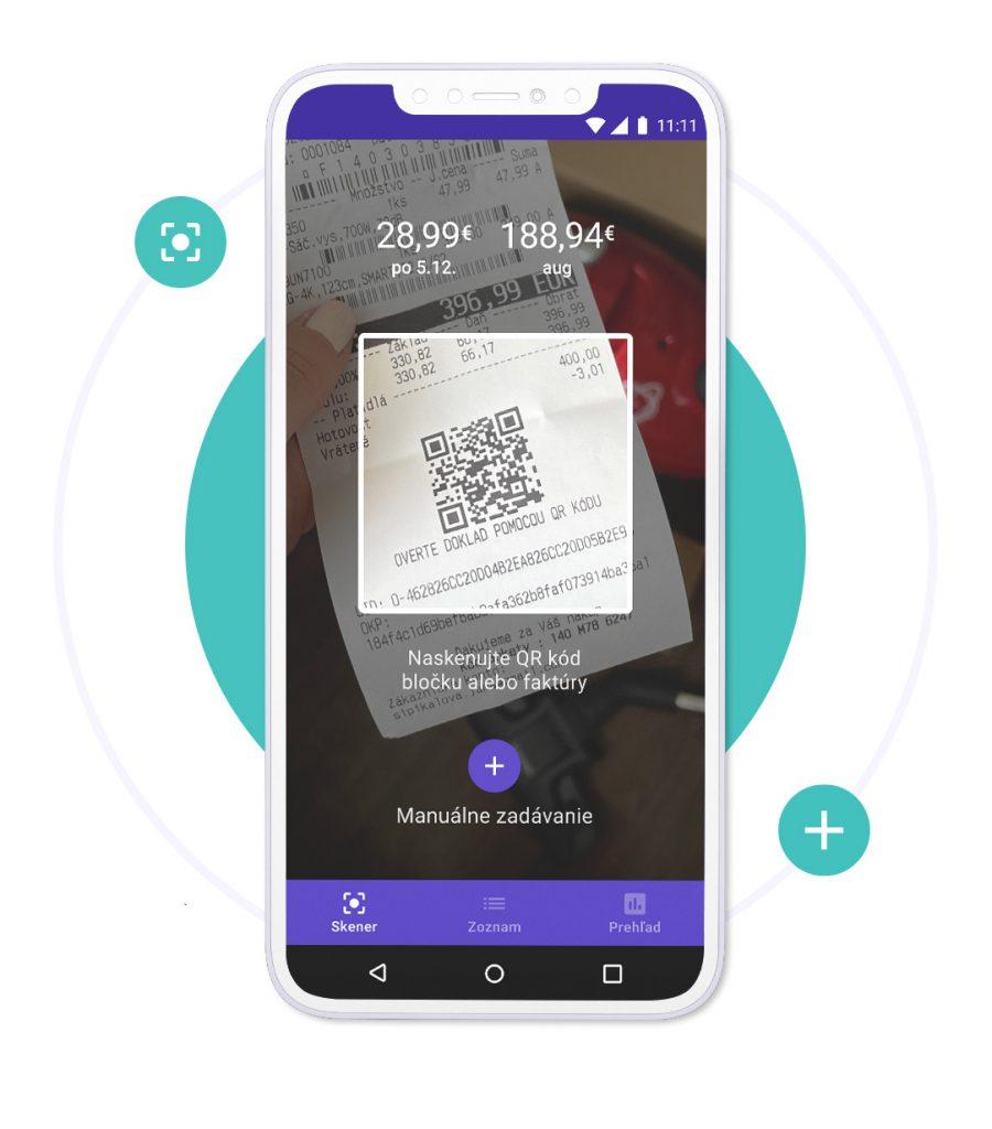 Skenovanie papierových bločkov pomocou aplikácie